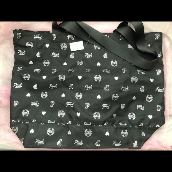 PINK Victoria's Secret Handbags - Black Shopping/Gym Bag